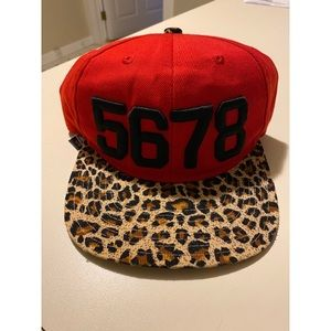 Accessories - NEW 5678 Dance Snapback in Red & Cheetah Print